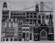 San Francisco - linoprint - 2010